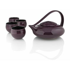 Teavana Judith Weber Five Piece Tea Set, with cups, aubergine by Judith Weber. $189.95. Long admired for the beautiful design of this teapot, Judith Weber has added purple and slightly altered the style. This 'everyday elegant' tea set includes a 32oz teapot and four matching tea cups. The striking color makes it stand out on any table!