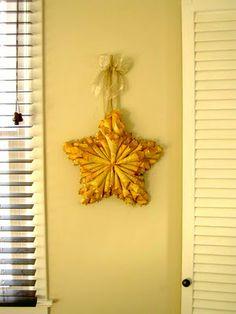 Glittered paper cones made into a pretty star