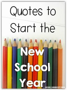 Quotes to Start the New Year: Clever Classroom blog
