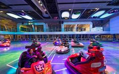 5. More Fun:          One of the coolest additions to this ship is something called the SeaPlex, which offers bumper cars and other cool activities.