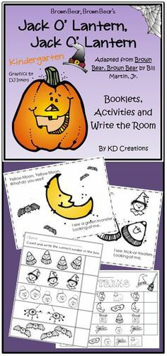 """Jack O' Lantern, Jack O' Lantern"" is the first follow up unit to our Kindergarten ""Brown Bear, Brown Bear"" unit."