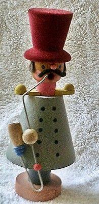 Vintage Tophat Man Moustache German Incense Burner Smoker Figure Wood Carving | eBay