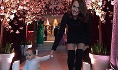 Tamara Ecclestone steps out with baby girl Sophia at birthday bash #DailyMail
