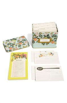 This amazing wedding gift by Rifle Paper Co. features a notepad with a fridge-ready magnet, a pack of 12 beautifully printed recipe cards and a vintage-inspired tin recipe box housing 12 handy dividers and 24 more recipe cards—everything necessary for making a home-cooked meal a stylish event.