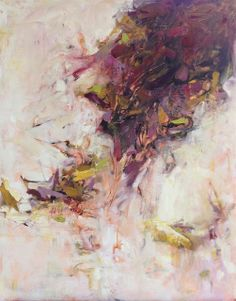 Garnet. Original abstract oil painting by Karri Allrich art - artist oils 30x24 inches ©2013