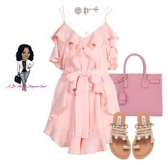 Untitled #3310 by stylebydnicole on Polyvore featuring polyvore fashion style Alice McCall Steve Madden Yves Saint Laurent Allurez clothing
