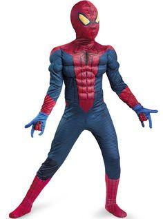 Gespierd Classic Amazing Spiderman Movie kostuum voor jongens