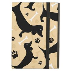Black dachshund iPad air covers