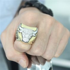 Custom 1997 Chicago Bulls Basketball World Championship Ring