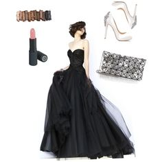 A fashion look from February 2015 featuring Sherri Hill gowns, Badgley Mischka pumps and Bao Bao by Issey Miyake clutches. Browse and shop related looks.
