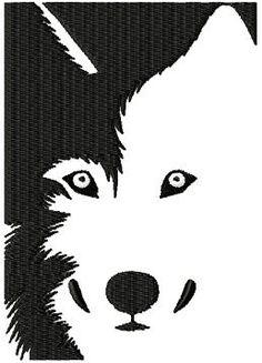 Husky - Wolf  embroidery design - Machine Embroidery Design - Digital Design File. $5.25, via Etsy.
