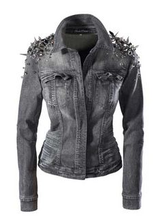 'Killer Couture' Spiked Denim Jacket by Blessed & Cursed