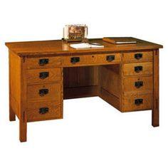 Kneehole Desk mission furniture stickley