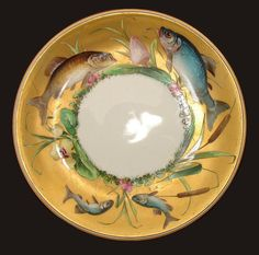 Minton Hand Painted Porcelain Fish Plate
