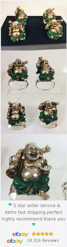 These Laughing Buddha napkin rings are sure to bring much joy (and good luck) to your guests as they rub their ample bellies!  Set 4 assorted Poses, the Napkin Rings are signed by artist Hans Turnwald on a silver base.