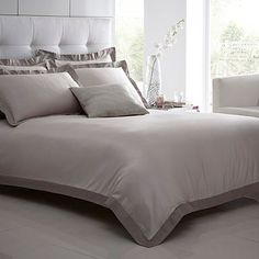 Natural 'Lucienne' bed linen - Duvet covers & pillow cases - Bedding - Home & furniture -