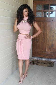Wrapped Up in Pink  Outfit: Jaide Clothing Shoes: Christian Louboutin Necklace: H&M Blogaholic Connoisseur