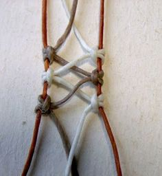 Ecocrafta: macrame wrapping : Lace style: