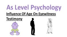 The influence of age on eyewitness testimony. How does age interfere with memory recall? In this lesson we will be looking at the differences between memory . A Level Revision, Psychology A Level, New Life, Memories, Age, Education, Twitter, Instagram, Memoirs