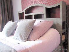 meuble en carton t te de lit en carton halba d cor e. Black Bedroom Furniture Sets. Home Design Ideas