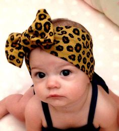 This Cheetah Print Headwrap is Right on Trend for the Most Fashionable Babes! Please measure your little ones head to ensure a proper