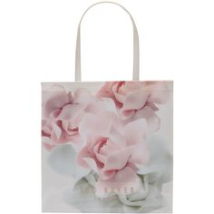 Ted Baker Kyracon Rose Large Shopper Bag, Nude Pink (£23) ❤ liked on Polyvore featuring bags, handbags, tote bags, hand bags, pink tote bags, white purse, handbags totes and ted baker handbags