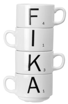Via Nordic Days | FIKA Mugs (Swedish for 'coffee and a pastry') www.nordicdays.nl