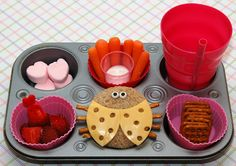 lovebug bento..cute for lily's valentine's day