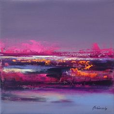 Buy Magenta Mood - 30 x 30 cm, abstract landscape oil painting, purple, orange, pink, Oil painting by Beata Belanszky Demko on Artfinder. Discover thousands of other original paintings, prints, sculptures and photography from independent artists.
