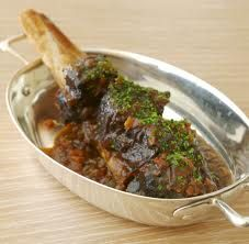Chianti braised beef shank cooked in a wood burning oven sold at The Outdoor Pizza Oven Company.