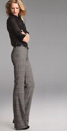 Image result for flared plaid pants outfit