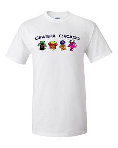 White Sox Bulls Blackhawks Bears Grateful Dead Tee Grateful Dead Dancing Bears Shirt Chicago Sports Chicago Grateful Dead Shirt