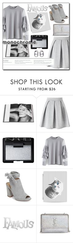 """""""One Color, Head to Toe #1"""" by channdid ❤ liked on Polyvore featuring Rizzoli Publishing, Miss Selfridge, NARS Cosmetics, Chicwish, Kristin Cavallari, Casetify, PBteen, Yves Saint Laurent, Marc Jacobs and monochrome"""