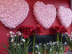 Amazing Valentine's Day Display by Floral Expressions of Janesville, WI, via Flickr -Maura