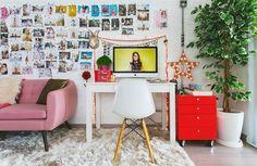 O escritório da fotógrafa Erika Verginelli é tão fofo que parece que saiu do pinterest.