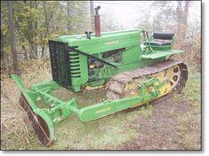 The John Deere Crawler Tractors John Deere Equipment, Heavy Equipment, Walk Behind Tractor, Old John Deere Tractors, Vintage Pickup Trucks, Crawler Tractor, Antique Tractors, Wood Shed, Work Horses