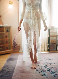 Wedding lingerie.......this is a combination of stunningly beautiful and very sexy!