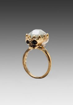 HOUSE OF HARLOW Stone Top Skull Cocktail Ring in Gold at Revolve Clothing - Free Shipping!