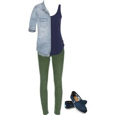 or maybe with olive pants