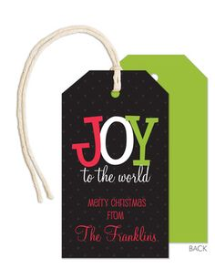 Joy to the World Hanging Gift Tags
