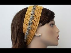 Bobbly Chic Crochet Headband Video Tutorial and Pattern. Written Pattern in Show More section below this video tutorial. Bobbly Chic Crochet Headband Written Pattern Design by Paula Crochet Headband Pattern, Knitted Headband, Crochet Hooks, Free Crochet, Knit Crochet, Crochet Headbands, Crocheted Hats, Knitting Patterns, Crochet Patterns