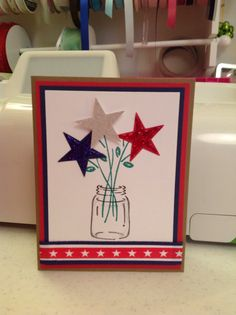 Component. Concept. Stars/fireworks/flags growing from flowers.
