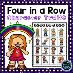 Engage your students with these fun character traits games! Perfect addition for your character traits unit. Your students will love playing these Four in a Row Character Traits Games in their literacy centers! Kindergarten Themes, Literacy Activities, Literacy Centers, Writing Games, Writing Lessons, Character Traits Activities, Teacher Resources, Classroom Resources, Reading Stations