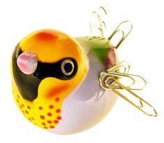 keladeco.com - Range trombones #oiseau Piu Piu jaune - Pylones