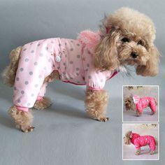Pas cher Hiver manteau de chien New Pet vêtements chauds Puppy Dog Polka Dot manteau combinaison Outwear pour SHM, Acheter Dog Coats & Jackets de qualité directement des fournisseurs de Chine: Hiver hund kleidung chaud polka dot jacke globale à capuche jacke