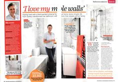Style at Home - I Love my Marble Walls - July 2013  ---- Magazine Feature for Roman Showers. All press clippings can be found at http://www.roman-showers.com/press-centre/coverage/