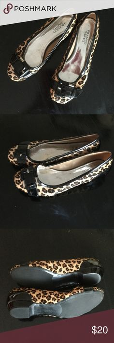 Franco Sarto leopard flats Barely worn leopard flats with black patent detailing. Franco Sarto Shoes Flats & Loafers