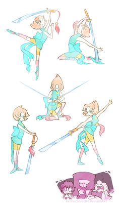 Sword Dance by FennecSilvestre on DeviantArt Desenhos Cartoon Network, Perla Steven Universe, Sword Dance, Bird Mom, Chibi, Pearl Steven, Universe Art, Animation, Nerdy