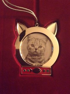 Reed Barton Silverplated Cat Meow Picture Frame Ornament New in Box Xmas | eBay