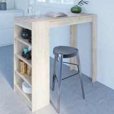 Small Bar Table, Small Table And Chairs, Table Bar, Summer House Interiors, Open Plan Kitchen Dining Living, Small Apartment Interior, Interior Design Kitchen, Decoration, Furniture
